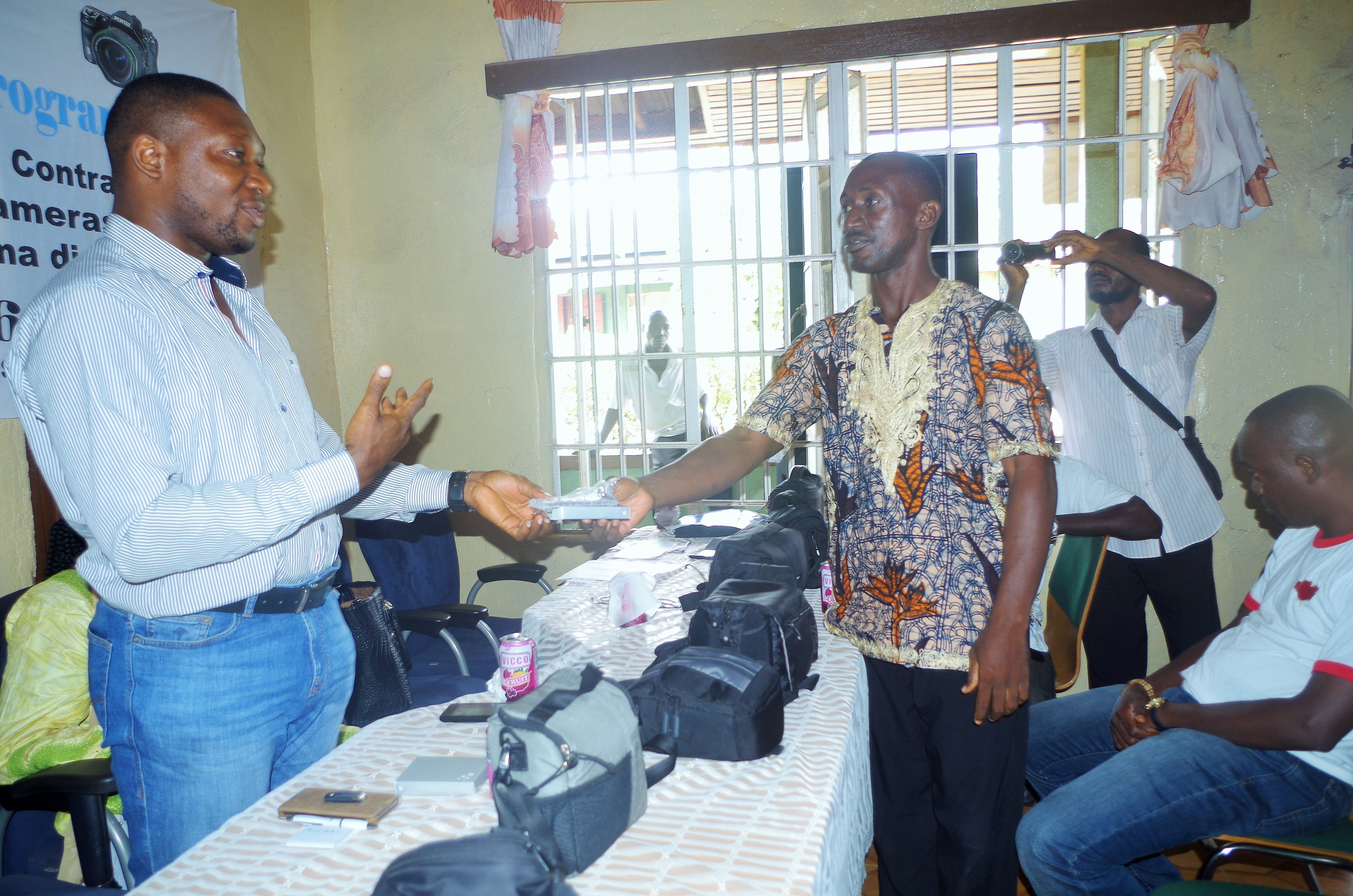 YAD Signs Revolving Loan Contract With Young Photographers in Kenema District